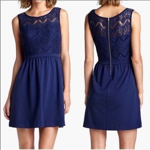 Lily Pulitzer Navy blue lace fit and flare dress